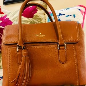 Kate Spade luggage tan handbag